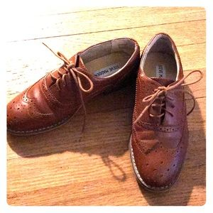 Steve Madden brown leather loafers